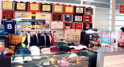 Cap and shirt embroidery shop